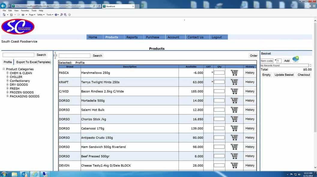 South Coast Foodservice - Order Online